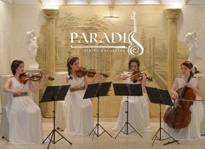 """Cvartetul de coarde """"Paradis"""" – un acompaniement muzical unic pentru evenimente de elita."""