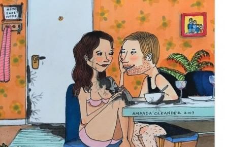 20 сверхчестных иллюстраций о том, как выглядит любовь, когда никто не смотрит.