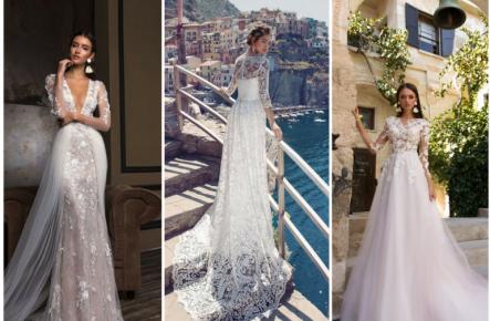 Лебедь белая плывет: свадебные платья с длинным рукавом