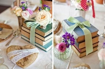 Cărți în loc de flori la nuntă: o alternativă modernă