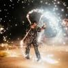 Spectacol pirotehnic cu foc oferit de
