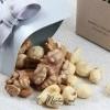 Mărturii de nuntă - cutiuțe cu asorti de nuci CN-001 auriu