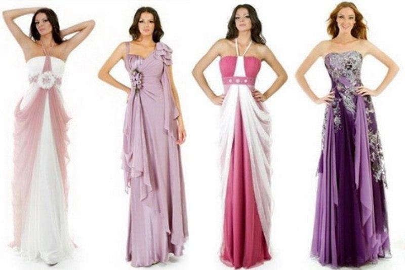 Модные длинные вечерние платья