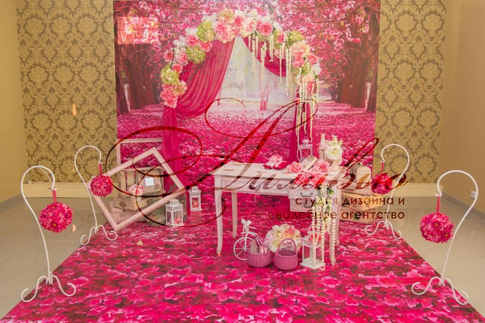 Wedding inspiration – декор, отличающийся индивидуальностью, в оттенках розовой фуксии