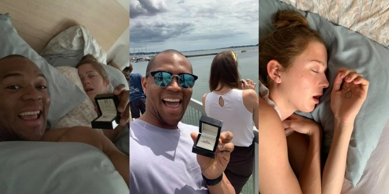 (Foto) Un britanic a vrut să se căsătorească, dar înainte de asta s-a fotografiat de 20 de ori cu inelul lângă iubita sa