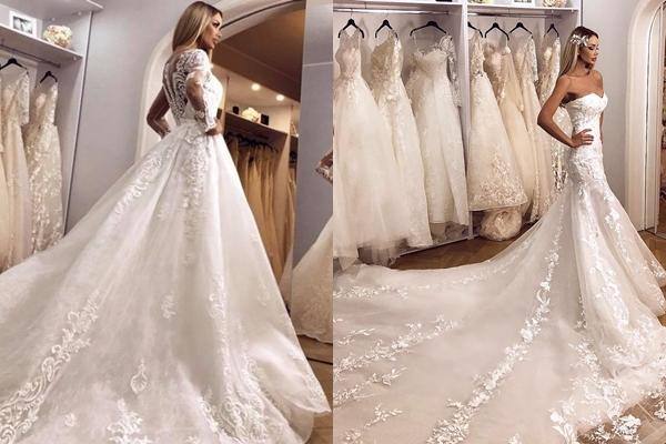 (Foto) Bianca Drăgușanu revine cu cea de-a doua colecție de rochii de mireasă fabuloase cu accente orientale