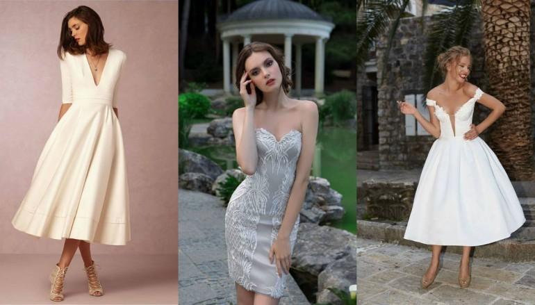 Маленькое белое платье: как подобрать длину свадебного наряда