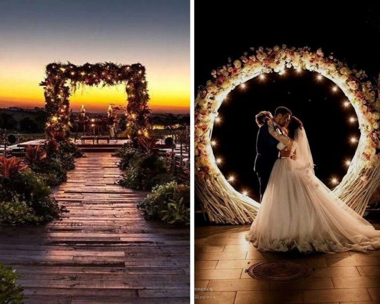 Фото на память: 20 примеров фотозон на свадьб