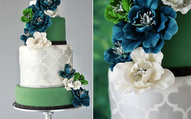 Цветы - идеальные украшения свадебного торта