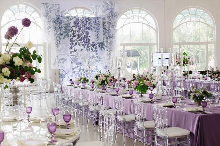 Свадьба в новом цвете сезона ультрафиолет