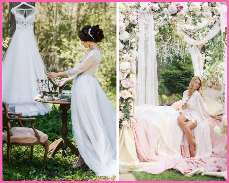 Стилизованный образ: 15 разных интерпретаций съемки утра невесты