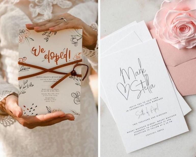 Care sunt ultimile tendințe pentru invitațiile de nuntă?