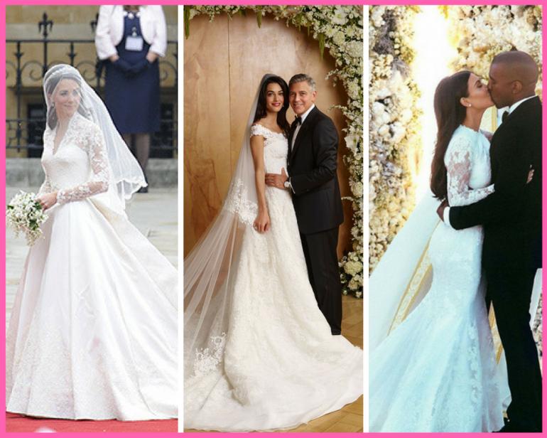 В догонку королевской свадьбе! Топ-20 звездных свадебных платьев