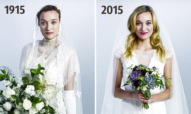Свадебные платья за последние 100 лет. Посмотрите на то, как они менялись (ФОТО и ВИДЕО)