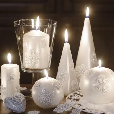 """Lumânări Christmas Snow de la """"Vioroca Cosmetic"""""""
