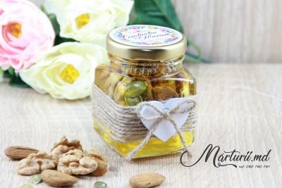 Баночки с мёдом на память гостям MN-024