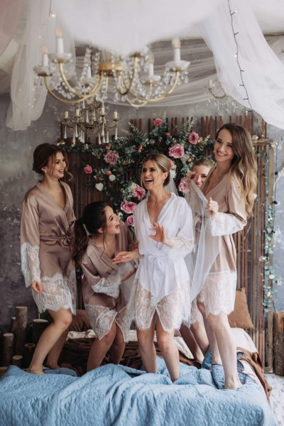 Набор халат для невесты и подружки невесты в мастерской «Cotton»