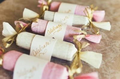 Пряничное конфетное покрытие с крепированным листом от Pink O'hara
