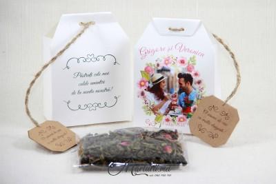 Mărturii de nuntă - cutiuță cu ceai CT-005