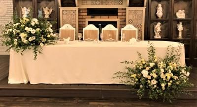 """Decorațiuni florale pentru masa mirilor """"Christine event decor"""""""