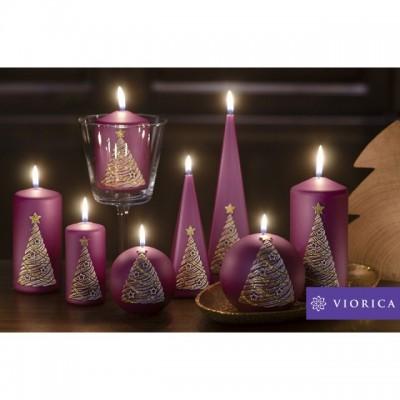 "Lumânări Christmas Tree de la ""Viorica Cosmetic"""