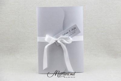 Invitație argintie cu foto 10x15 IN-029