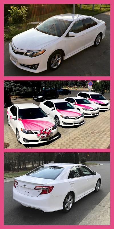 Свадебный кортеж Toyоta Camry, 5 белых автомобилей от