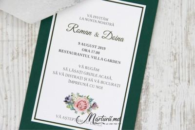Invitație Verde IN-036