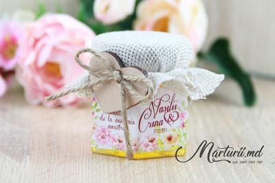Mărturii de nuntă - borcănașe cu miere - pioni  MN-016