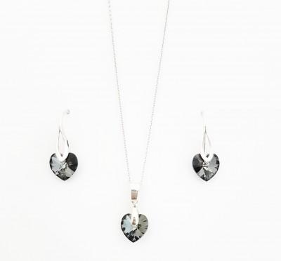 Set Swarovski Gri (argint 925)